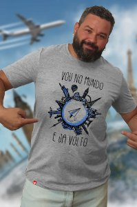 Vou no Mundo (T-shirt Unissex)