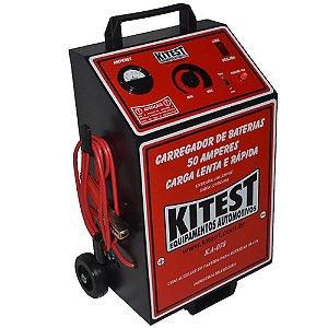 Carregador de Bateria 50 Amperes Carga Lenta e Rápida KA078