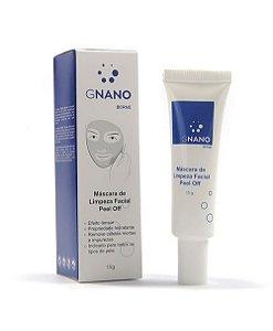 Máscara de Limpeza Facial Peel Off Gnano Derme 15g