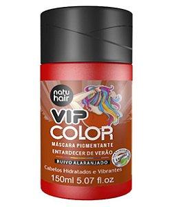 Máscara Pigmentante Vip Color Entardecer de Verão (Ruivo Alaranjado) Natuhair 150ml