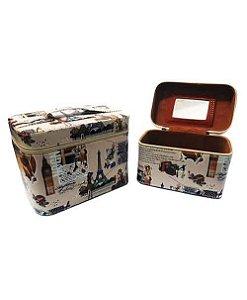Kit com 2 Frasqueiras Bege HN81429