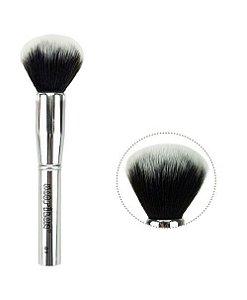 Pincel de Maquiagem Pó Facial Silver Macrilan S-01
