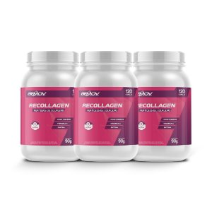 Kit com 3 Recollagen 90g 120 Cápsulas