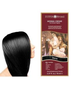 Henna Creme Preto Surya Brasil 13.9 P 70ml