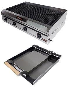 Char Broiler Di Cozin a Gás CBD-860 -de Bancada - Grelhas Total - Chapa - Prensa