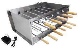 Churrasqueira Rotativa Di Cozin a Carvão CRD-011 - 11 Espetos Rot.  - Bivolt - Com Variador Velocidade