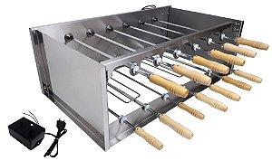 Churrasqueira Rotativa Di Cozin a Carvão CRD-013 - 13 Espetos Rot.  - Bivolt - Com Variador Velocidade