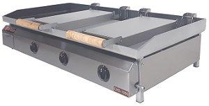 Chapa Bifeteira Di Cozin a Gás CHD-1000 - de Bancada - Prensa Pão Duplo