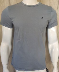 Camiseta Cinza Escura com Gola redonda Enfim