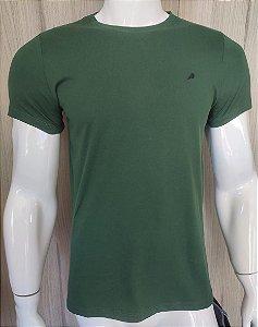 Camiseta Verde Gola Redonda Enfim