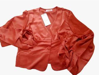 Blusa Feminina botões c/ manga longa blogueira Oxford