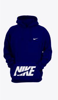 Moletom Masculino Preto Canguru Frio Moleton Nike