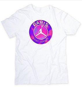 Camiseta camisa masculina feminina PSG PARIS JORDAN 100 % ALGODÃO