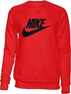 Moletom sem capuz Nike vermelho