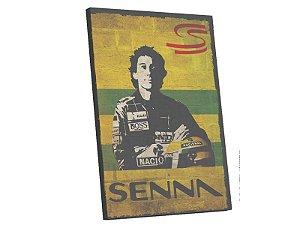 Quadro Tela Digital Canvas Ayrton Senna  50x40 Borda Infi