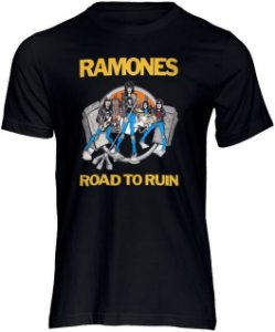 Camisa de Rock Camiseta Ramones  Punk Bandas Moda Geek