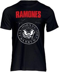 Camiseta Camisa de Rock Ramones  Punk Bandas Moda Geek