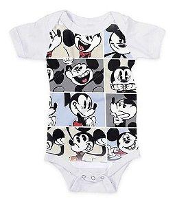 Body Infantil Divertido Personalizado Mickey Mouse