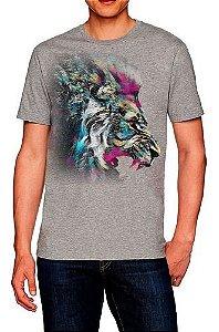 Camiseta Estampada Masculina Leão De Juda