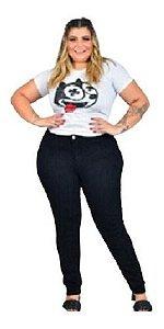 Calça Skinny Plus Size - Preta 52