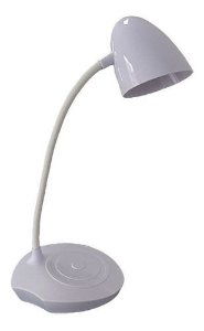 Luminária Led Usb Flexível De Mesa Com 3 Intensidades Branca