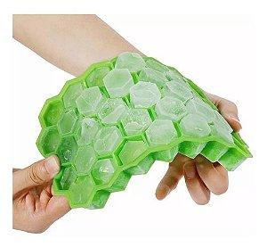 Forma Silicone Colmeia Gelo P/ Garrafa Hexagono 37 Cavidades