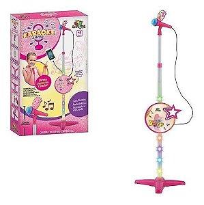 Karaokê Brinquedo Infantil Com Microfone Conecta Celular