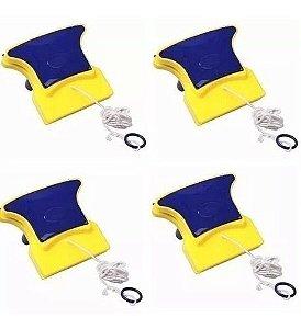 4 Limpador Magnético Limpa Vidro Janela Aquário Frete Gratis