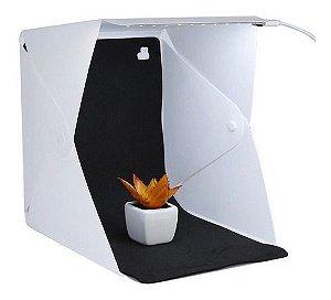 Mini Estudio Fotográfico Tenda Box C/  Led Portátil Dobrável