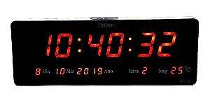 Relógio De Parede Em Led Digital Metal  - Hobar