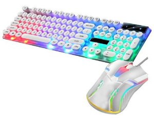 Teclado Mouse Gamer Led Rgb Pc Game Ps4