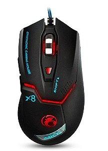 Mouse Gamer X8 com led RGB 3200 DPI