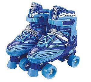 Patins Roller Skate Azul  Ajustavel - FENIX