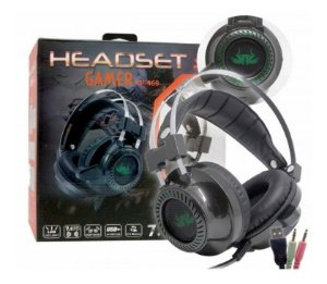 Fone Gamer Headset 7.1 Sound Effect P2 Usb Knup Kp-469