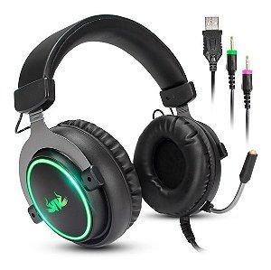 Fone Gamer  Headset 7.1 Gamer Pc Usb Led Microfone Kp-465
