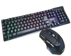 Kit teclado gamer semi-mecanico e Mouse 7 Botões WEIBO  x7
