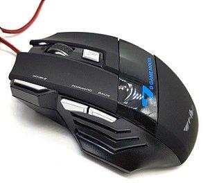 Mouse Óptico Gaming 3200 Dpi USB Com 7 Botões E Led Rgb