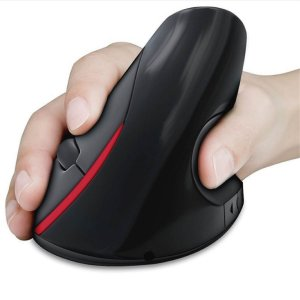 Mouse Optico Vertical Ergonomico Sem Fio - 5 Teclas