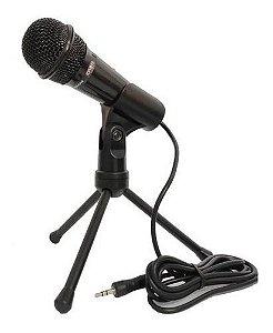 Microfone Tripé Celular Gamers, Youtube, Conferência P2
