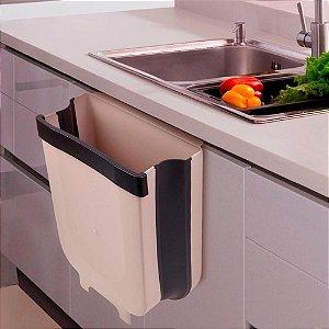 Lixeira Dobrável Cozinha Porta De Suspensão Press Pull