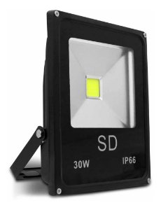 Refletor Holofote Led Sd 30w Bivolt Ip66 6000k Branco Frio