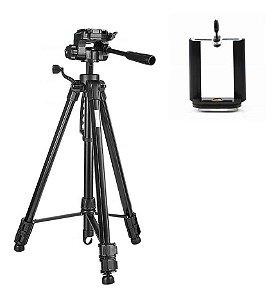 Tripé Universal Fotográfico Profissional Nikon Canon 1,80 Mt
