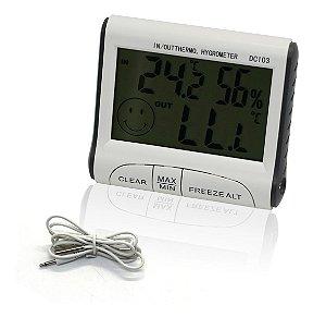 Mini Termômetro E Higrômetro Digital Max / Min