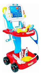 Kit Médico Mini Doutor Azul Brinquedo Criança - Fênix