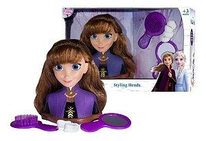 Brinquedo Disney Frozen 2 Styling Heads Anna Baby Brink 2041
