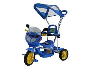 Triciclo Infantil Bebe Motoca Passeio C/ Som Luz Empurrador
