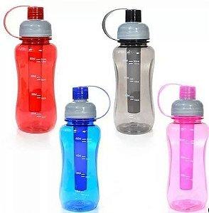 Garrafa  Para Academia Agua Squeeze Com Gelo Várias Cores