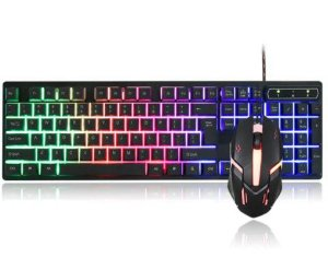 Kit Teclado Semi Mecânico Gamer Mouse Led + Mouse pad