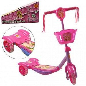 Patinete Menina 3 Rodas Para Crianças Com Cesta Belinda - Dm