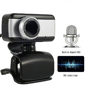 Webcam Com Micro-fone p/ video chamada Barata e funcional